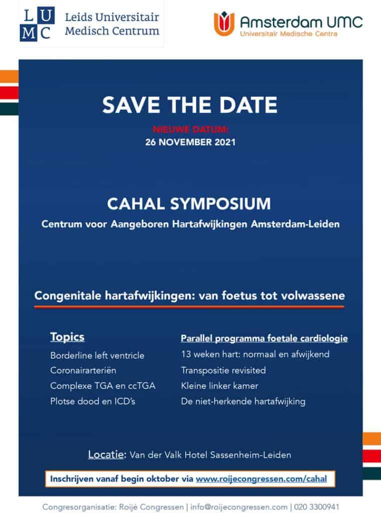 Nieuws Symposium 25 Jaar Cahal Flyer 26nov2021 Cahal